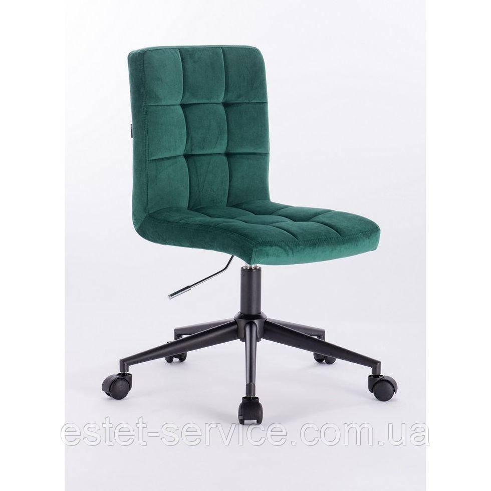 Косметическое кресло HROOVE FORM HR7009K бутылочное зеленое