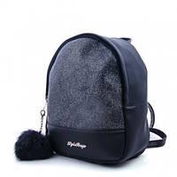 Молодежный рюкзак WeLassie 45351, черный блеск