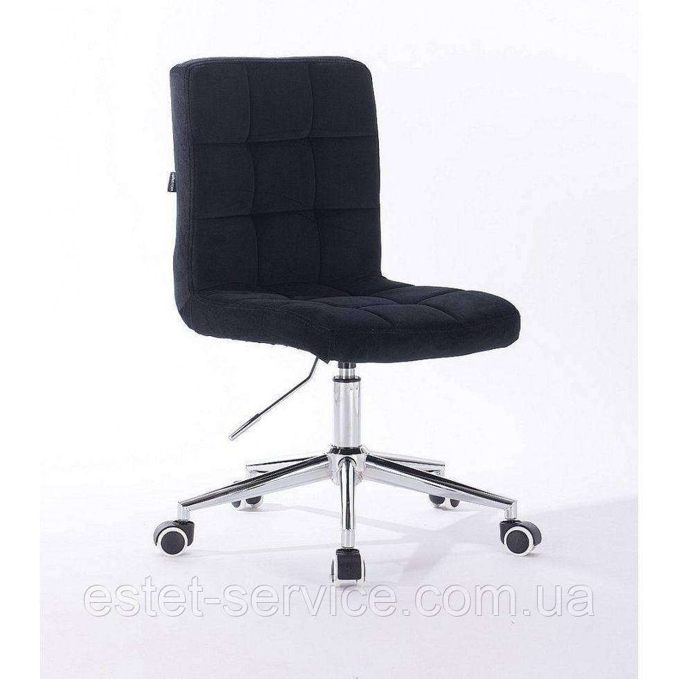 Косметическое кресло HROOVE FORM HR7009K хром черный велюр