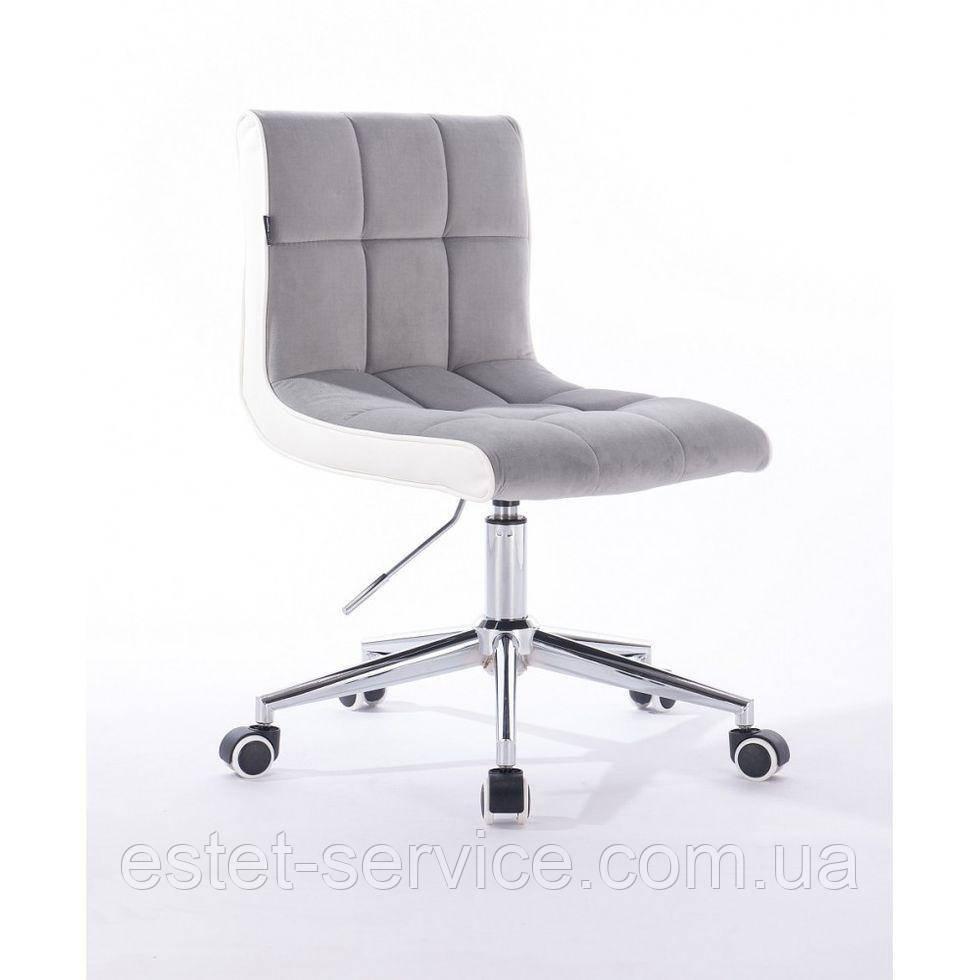 Косметическое кресло HROOVE FORM HR810K стальной велюр