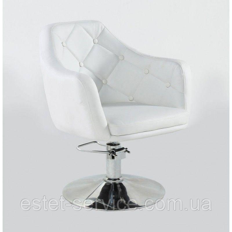 Кресло парикмахерское HC831H белое ГИДРАВЛИКА