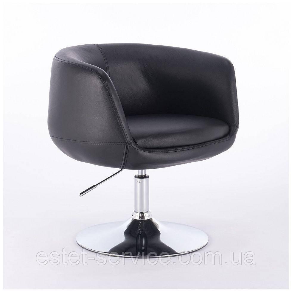 Парикмахерское кресло HC333N черное экокожа