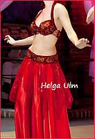 """Жіночий костюм для """"танцю живота"""", белідансу, східного танцю, червоний"""