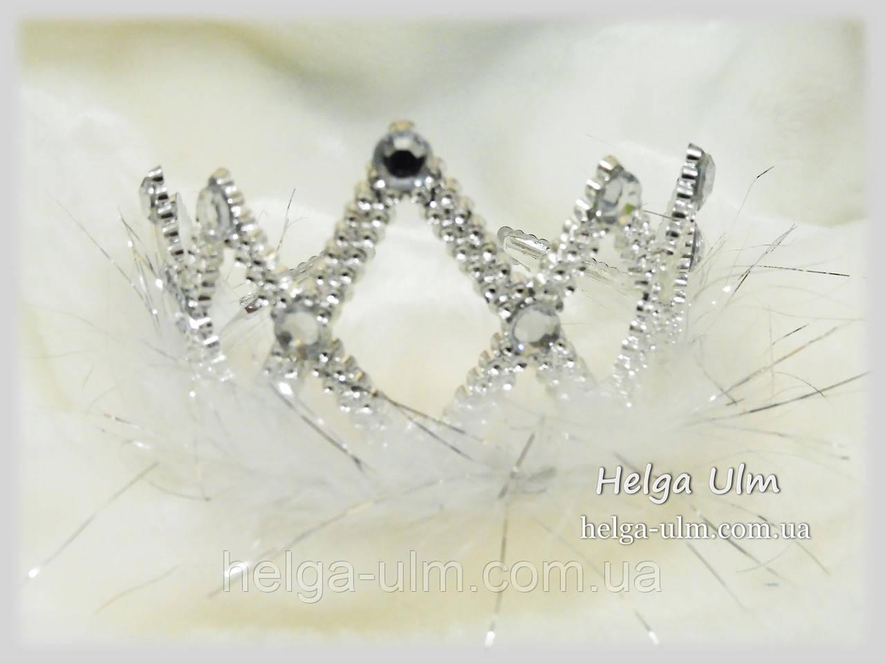 Корона срібна (пластик) для карнавального костюму, прокат лише з костюмами.