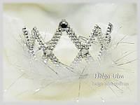Корона срібна (пластик) для карнавального костюму, прокат лише з костюмами., фото 1