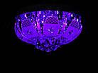 """Люстра """"торт"""" на 4 лампочки с LED подсветкой на пульте управления + динамик с MP3 СветМира VL-2235/400/4, фото 4"""