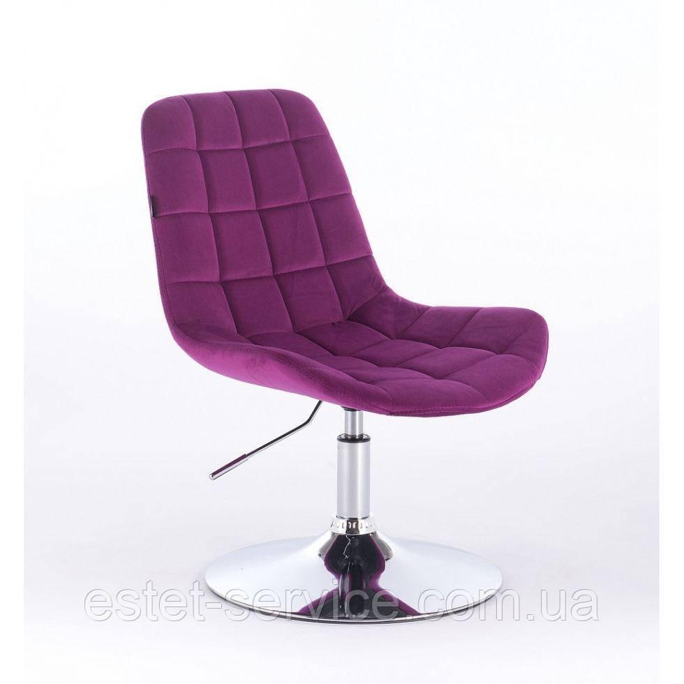 Парикмахерское кресло HR590N фуксия велюр
