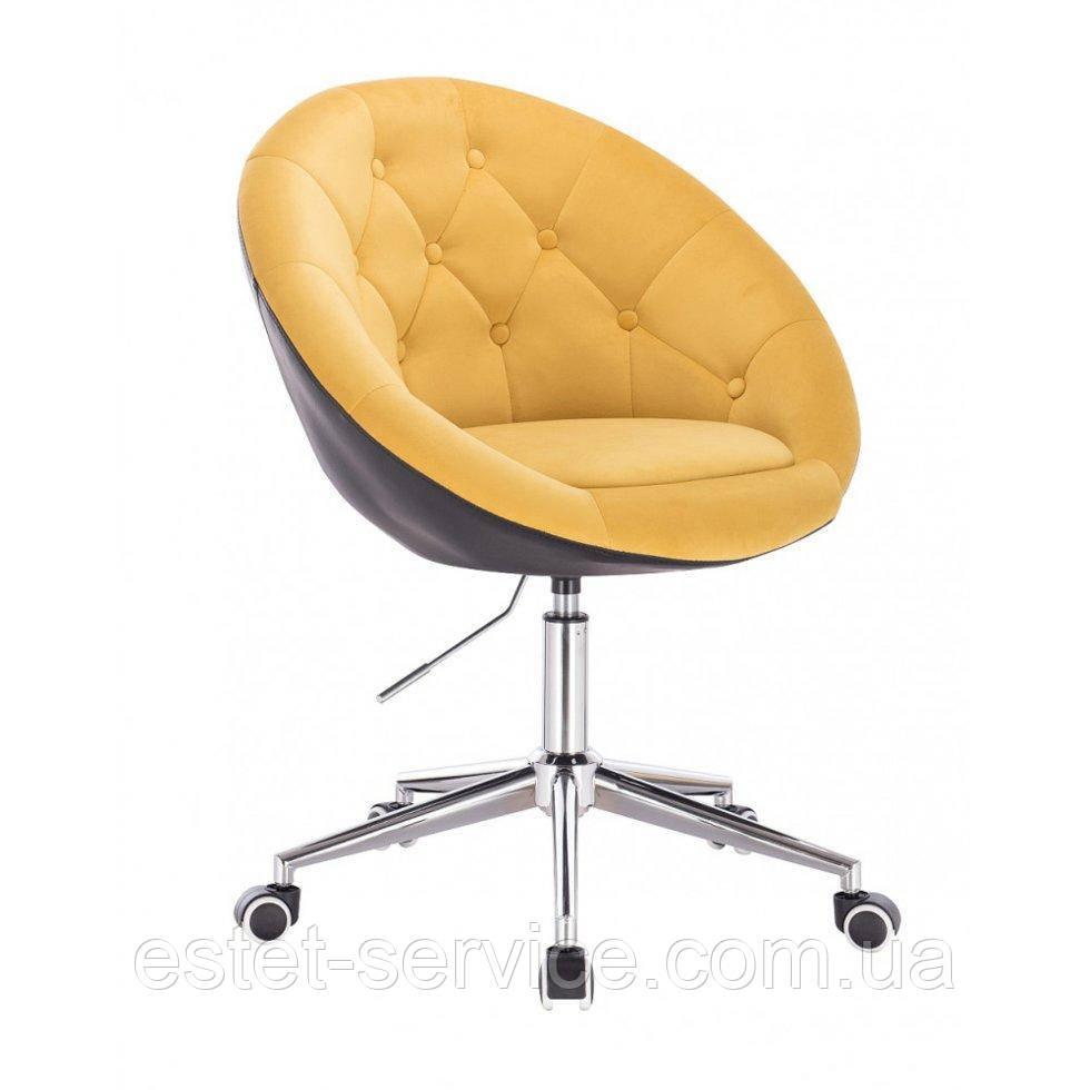 Косметическое кресло HR8516K  желто-черный велюр