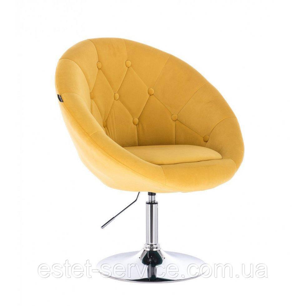 Парикмахерское  кресло HR8516 желтый велюр