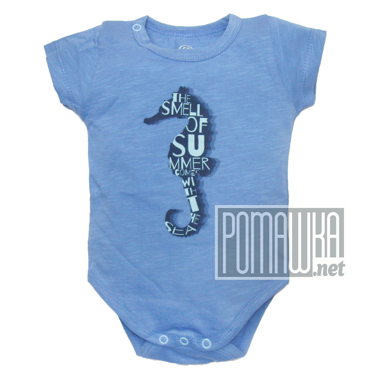 Детский боди футболка 68 3 5 мес летний для мальчика ребёнка новорожденных малышей лето из КУЛИР 4687 Голубой