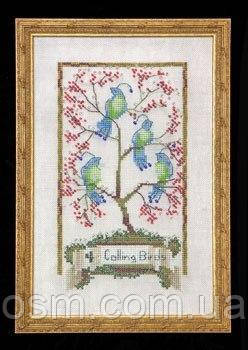Схема для вышивки Four Calling Birds Nora Corbett Designs