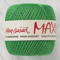 Пряжа Altin BasakMaxi 332 зеленая трава (Алтын Башак Макси) 100% мерсеризованный хлопок