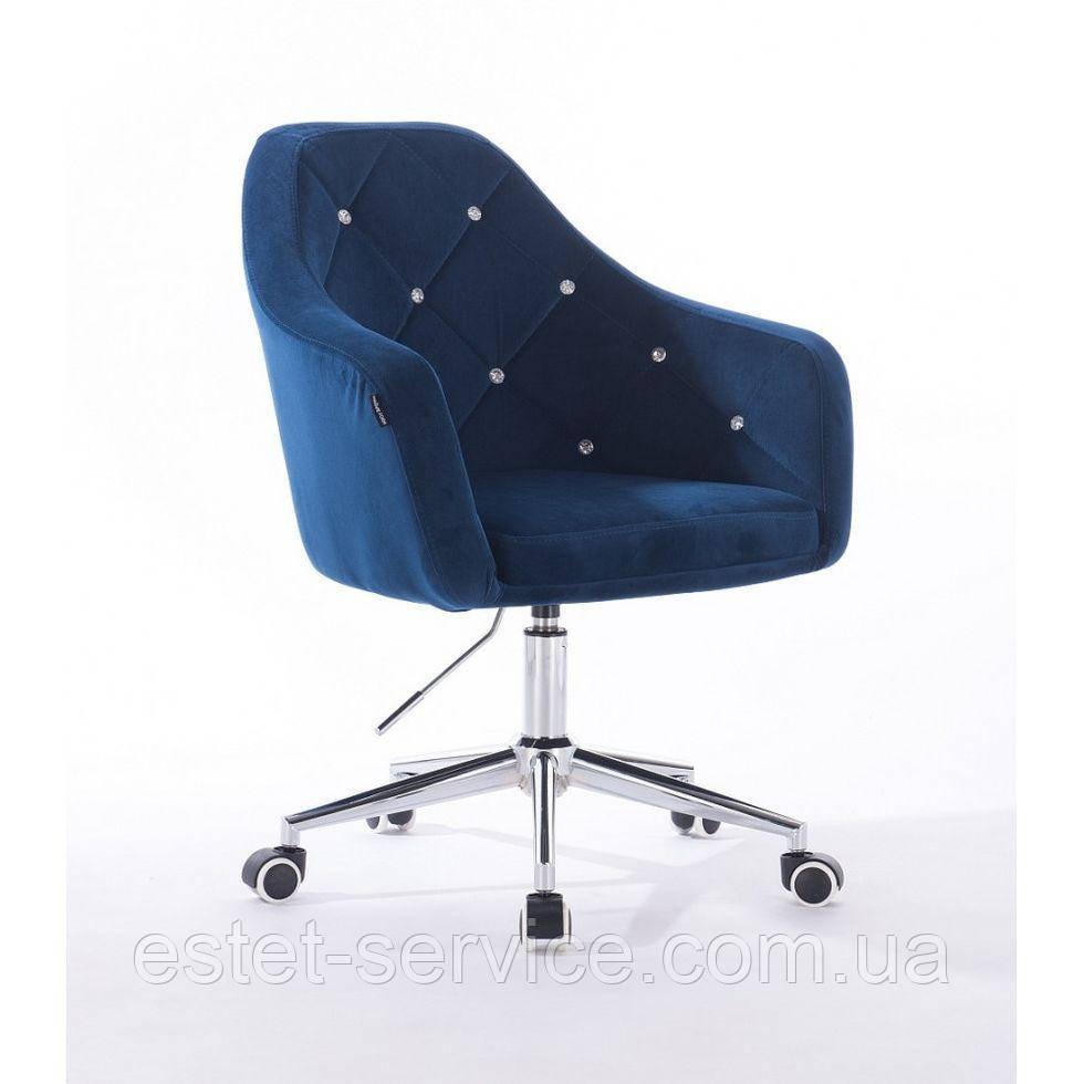 Косметическое кресло HROOVE FORM HR830K синий велюр