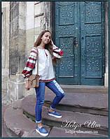 """Дитяча туніка-блуза з вишивкою і натуральним мереживом """"Катерина"""". На замовлення, фото 1"""
