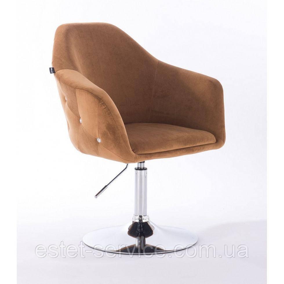 Парикмахерское кресло Hrove form HR547 медовый велюр