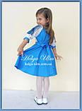 """Святкова сукня з натуральних тканин """"Блакитні мрії"""" для дівчинки НА ЗАМОВЛЕННЯ., фото 2"""