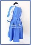 """Святкова сукня з натуральних тканин """"Блакитні мрії"""" для дівчинки НА ЗАМОВЛЕННЯ., фото 5"""