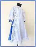 """Святкова сукня з натуральних тканин """"Блакитні мрії"""" для дівчинки НА ЗАМОВЛЕННЯ., фото 7"""
