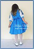 """Святкова сукня з натуральних тканин """"Блакитні мрії"""" для дівчинки НА ЗАМОВЛЕННЯ., фото 10"""