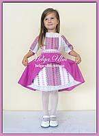 """Святкова сукня з натуральних тканин """"Рожеві мрії"""" для дівчинки 104 р."""