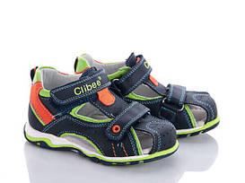 Детские кожаные босоножки для мальчика Clibee Польша размеры 26-31