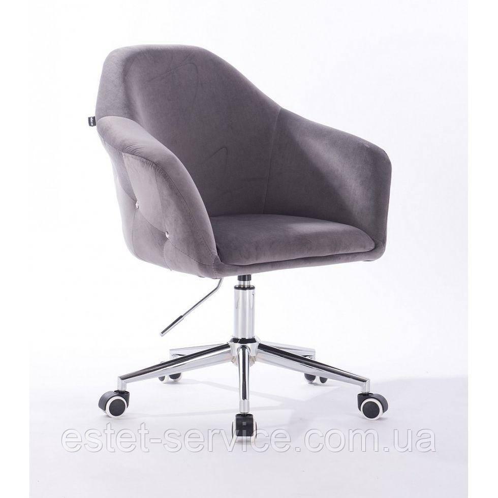 Парикмахерское кресло Hrove Form HR547k стальной велюр