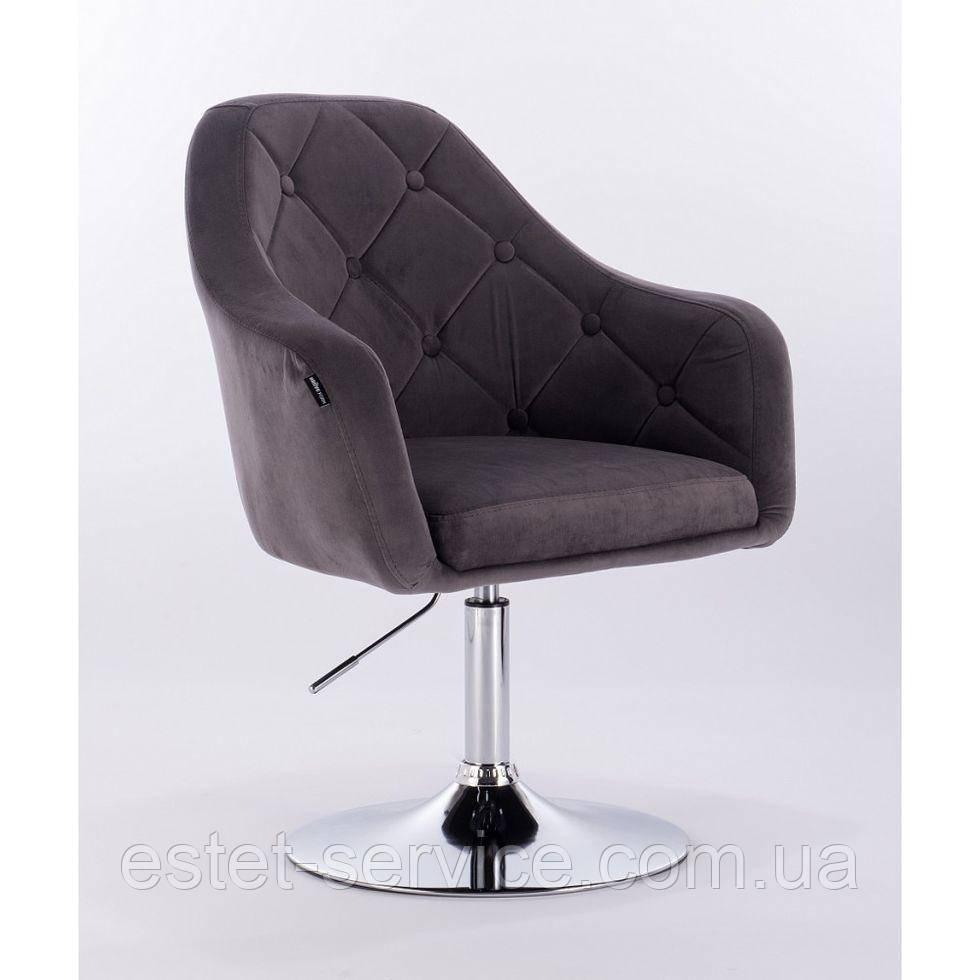 Парикмахерское кресло HROVE FORM HR831 серое