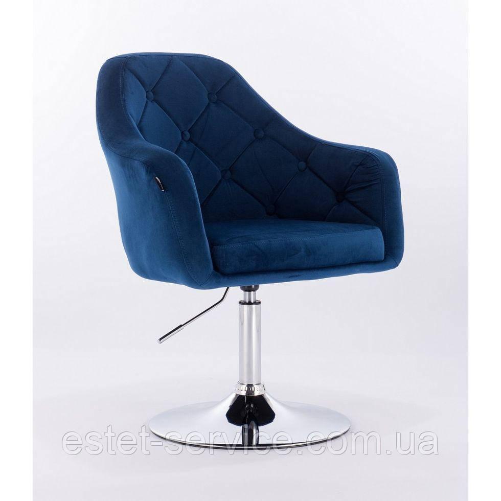 Парикмахерское кресло HROVE FORM HR831 синее