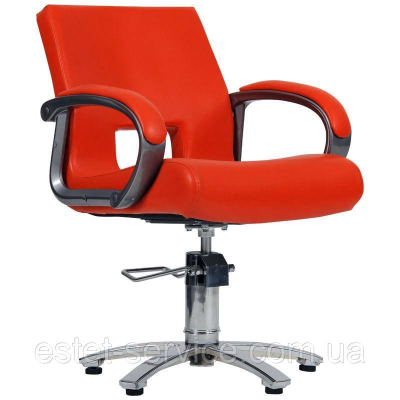 Парикмахерское кресло Milano красное