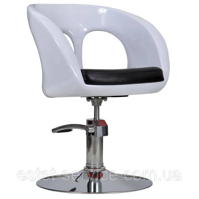 Парикмахерское кресло Ovo белое