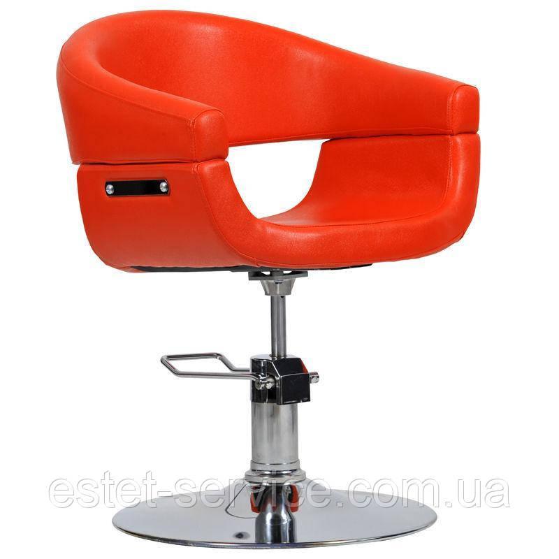 Перукарське крісло Toscania червоне
