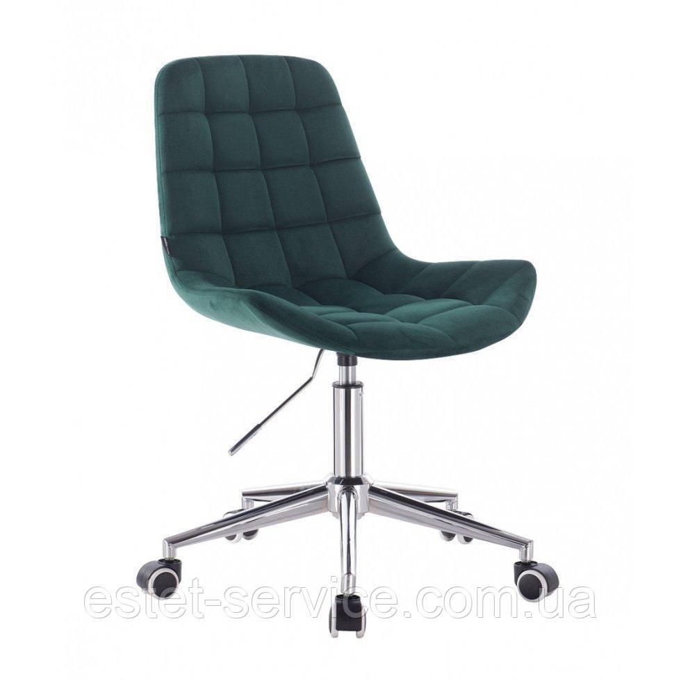 Косметическое кресло HR590K  бутылочный велюр