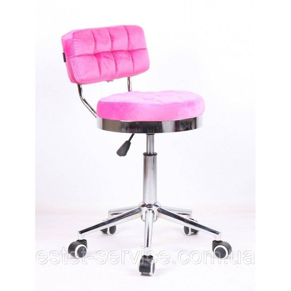 Косметическое кресло HR636 малиновый велюр