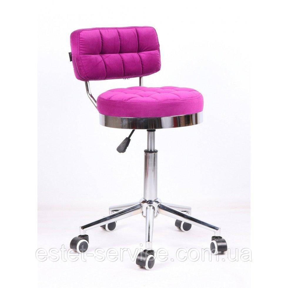 Косметическое кресло HR636 фуксия велюр