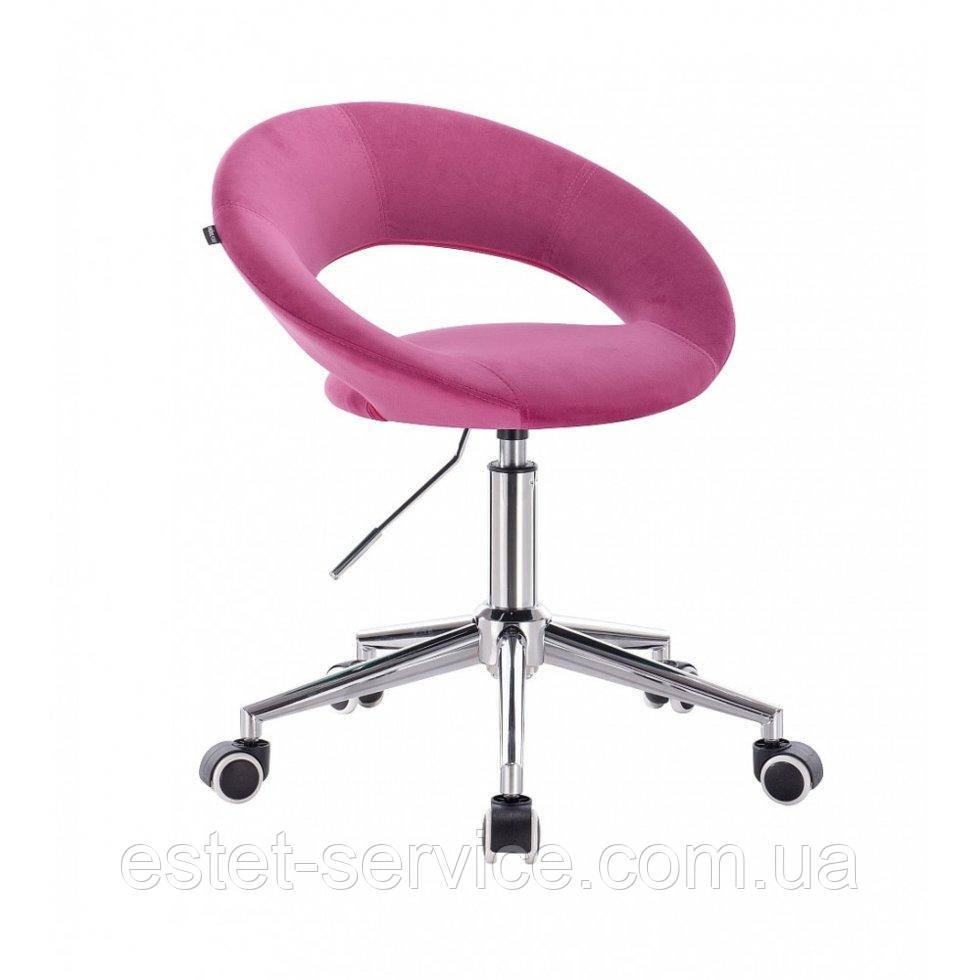 Косметическое кресло HR104K на хромированных колесах в ЦВЕТАХ велюра