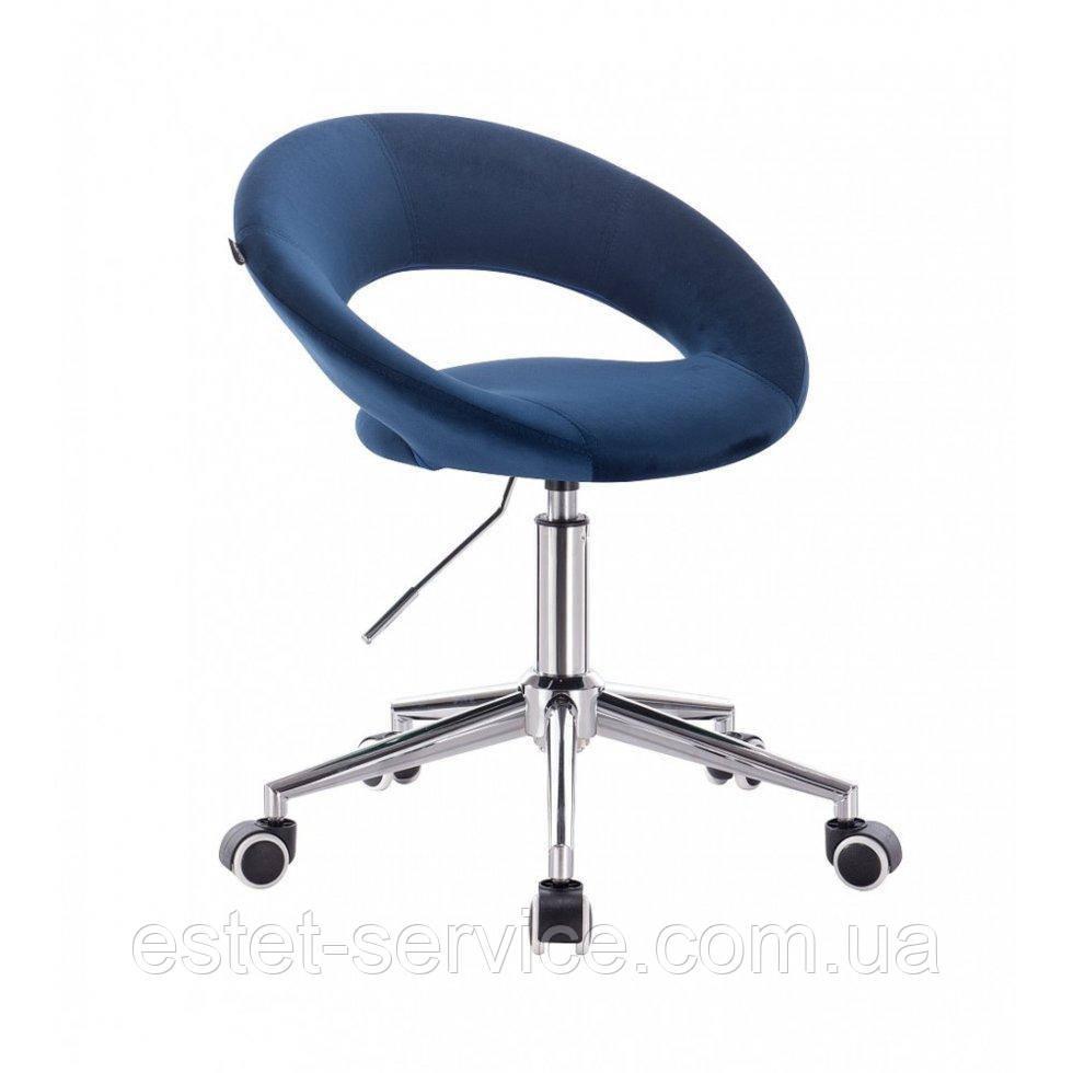Косметическое кресло HROOVE FORM HR104K синий велюр