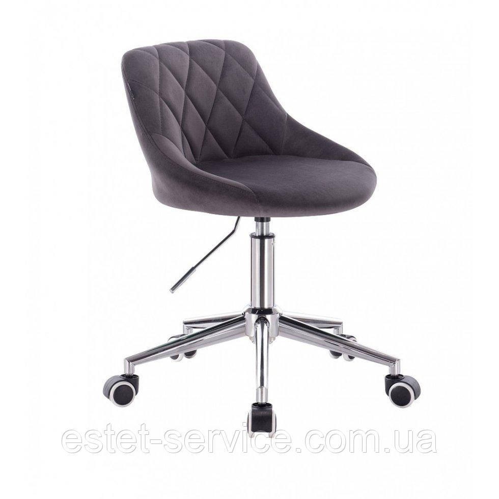 Кресло для мастера HROOVE FORM HR1054K на колесах в ЦВЕТАХ велюр