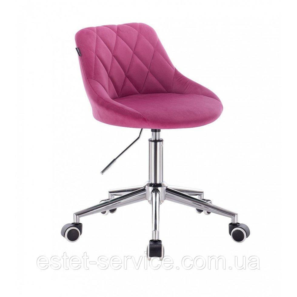 Косметическое кресло HROOVE FORM HR1054K малиновый велюр