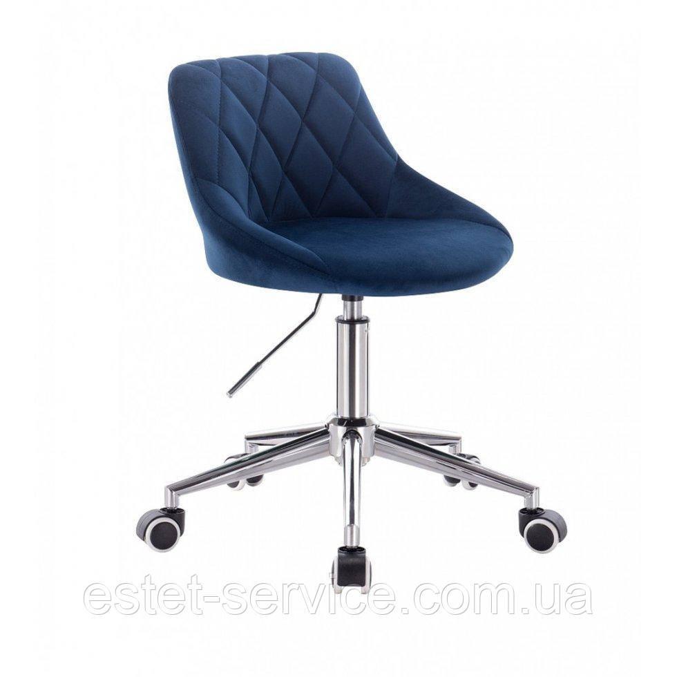 Косметическое кресло HROOVE FORM HR1054K синий велюр