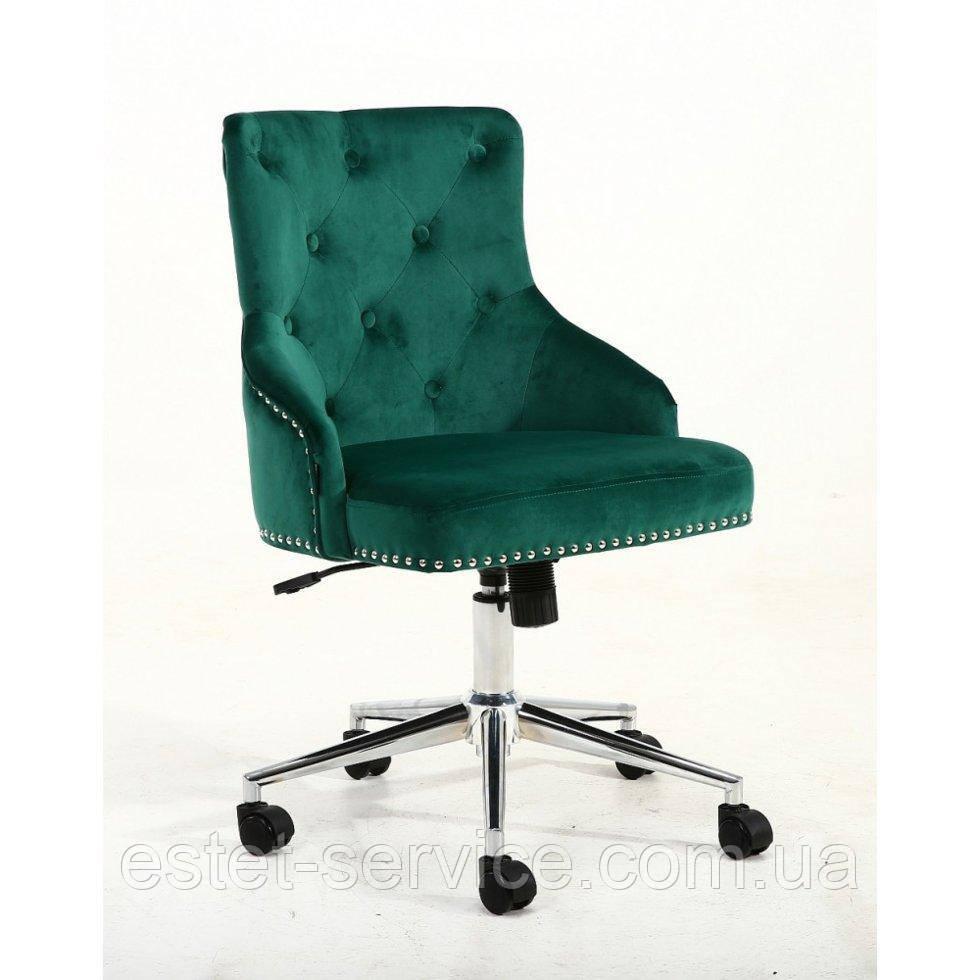 Косметическое кресло HROOVE FORM HR654K бутылочный велюр с пуговицами