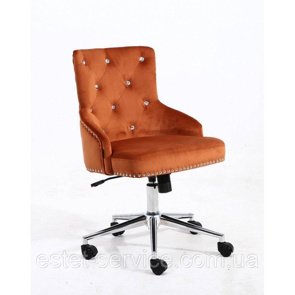 Косметическое кресло HROOVE FORM HR654K медный велюр со стразами