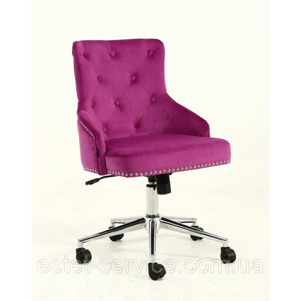 Косметическое кресло HROOVE FORM HR654K фуксия велюр с пуговицами