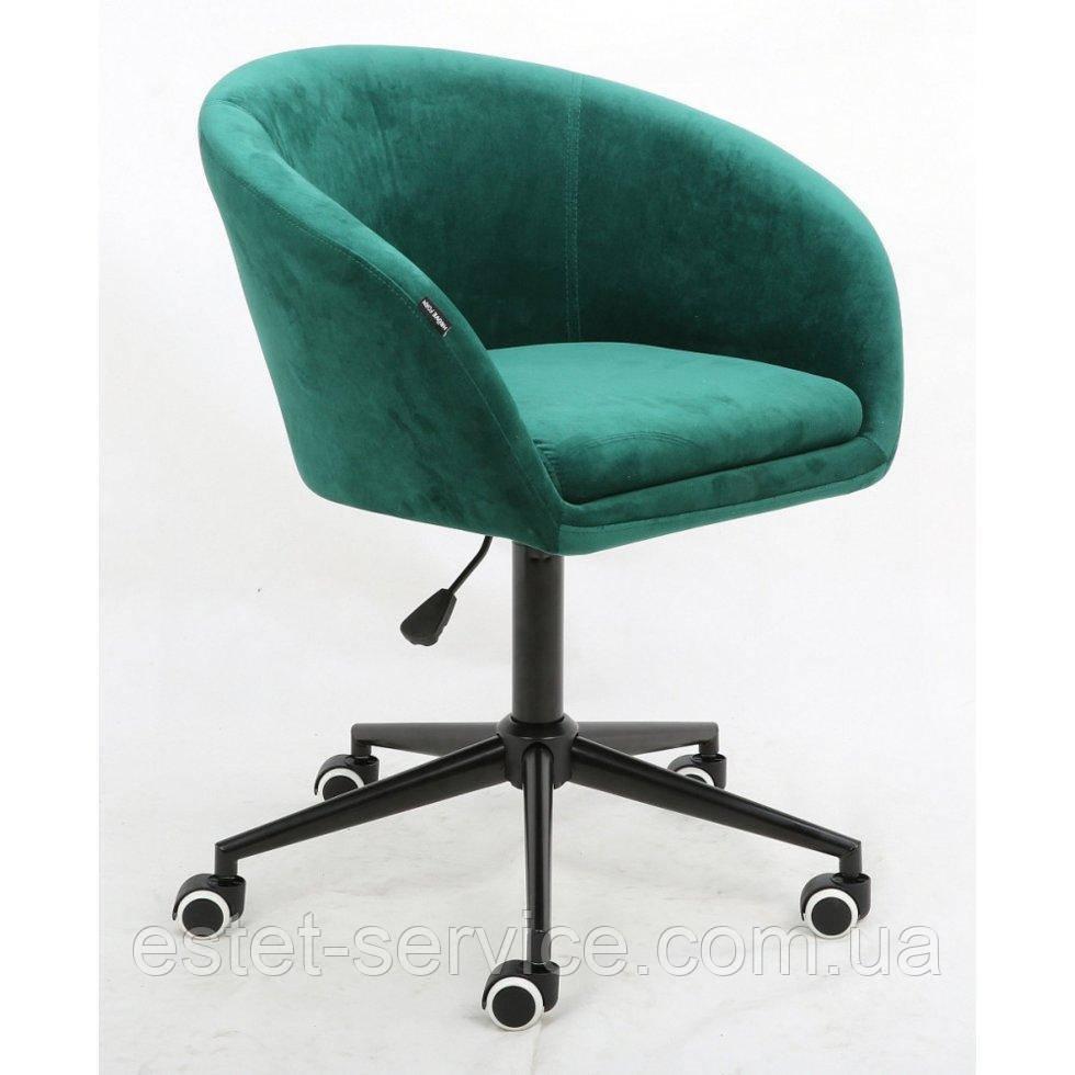 Косметическое кресло HROOVE FORM HR8326K бутылочный велюр черная крестовина