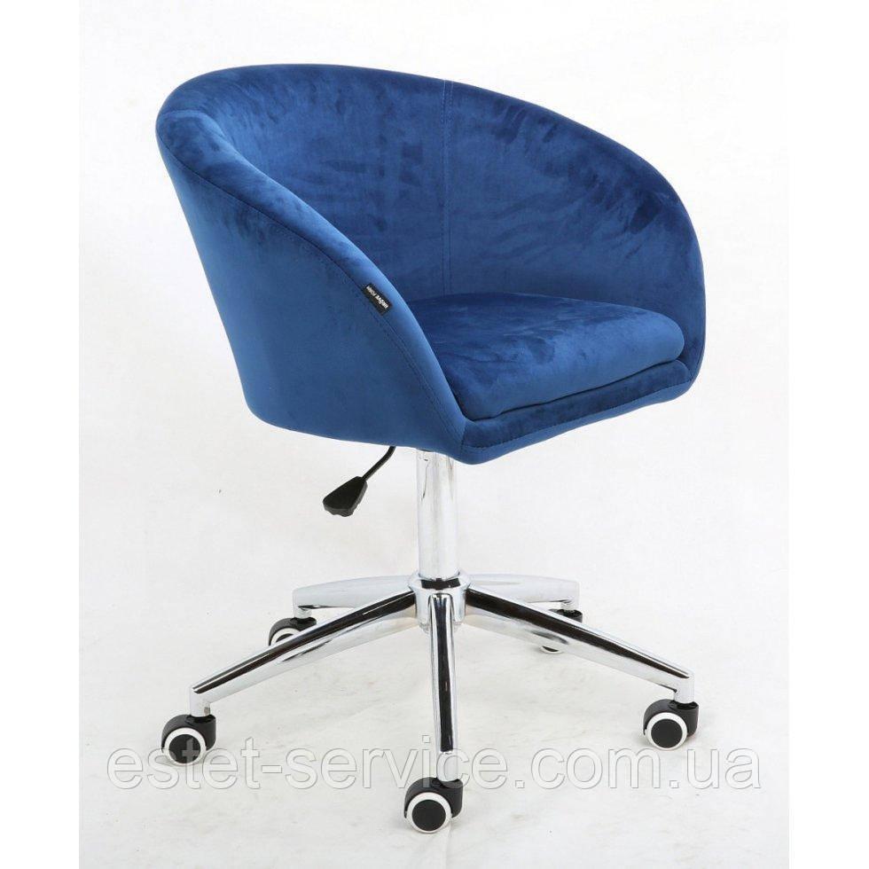 Косметическое кресло HROOVE FORM HR8326K синий велюр