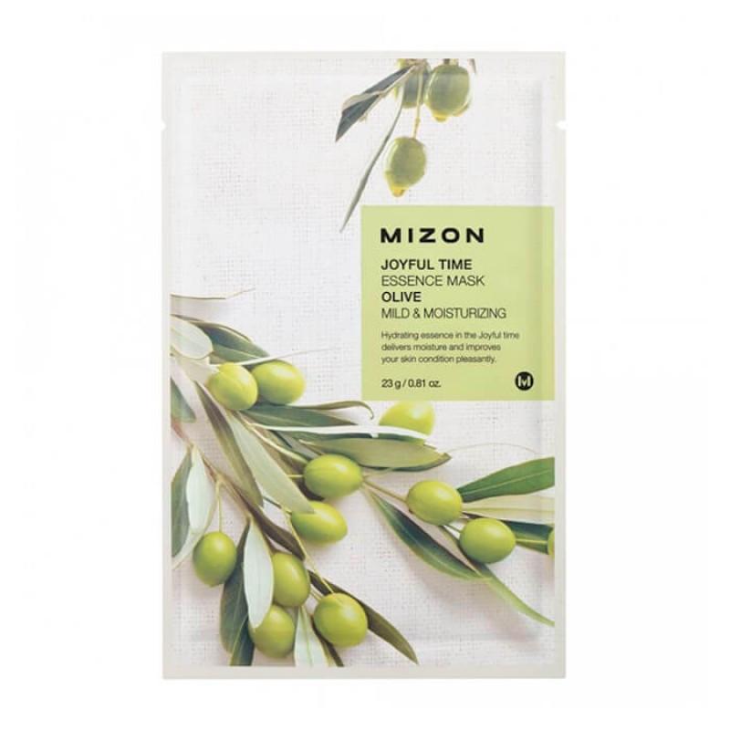Тканевая маска с экстрактом оливы Mizon Joyful Time Essence Mask Olive Mild&Moisturizing