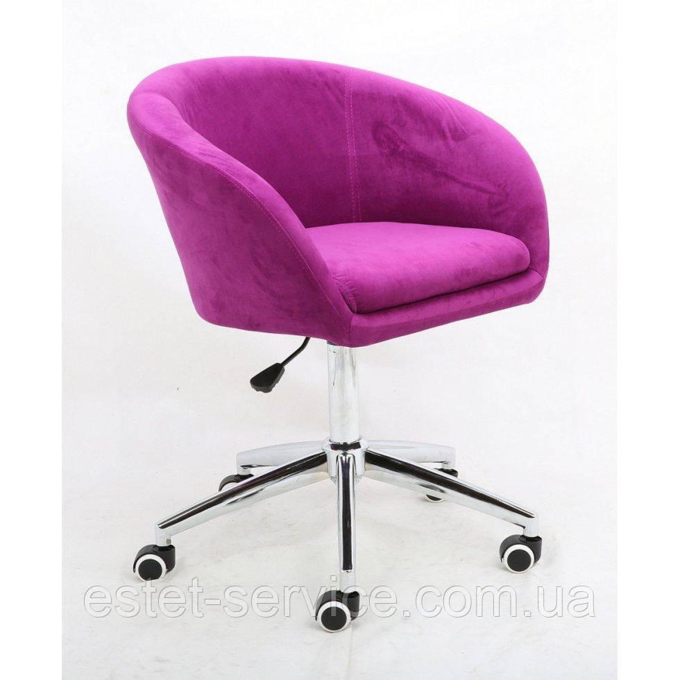 Косметическое кресло HROOVE FORM HR8326K фуксия велюр