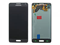Оригинальный дисплей Samsung G850F Galaxy Alpha черный (LCD экран, тачскрин, стекло в сборе), Оригінальний дисплей Samsung G850F Galaxy Alpha чорний