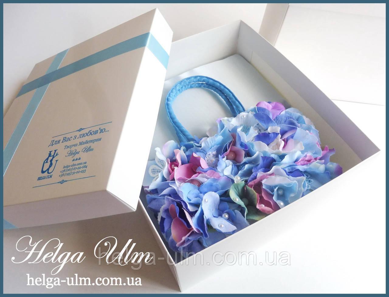 """Подарункова коробка для ексклюзивної сумочки """"Вальс квітів"""""""