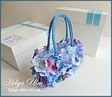 """Подарункова коробка для ексклюзивної сумочки """"Вальс квітів"""", фото 3"""