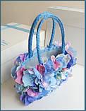 """Подарункова коробка для ексклюзивної сумочки """"Вальс квітів"""", фото 5"""